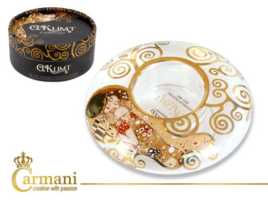 Świecznik dysk mały - G. Klimt Pocałunek (CARMANI)