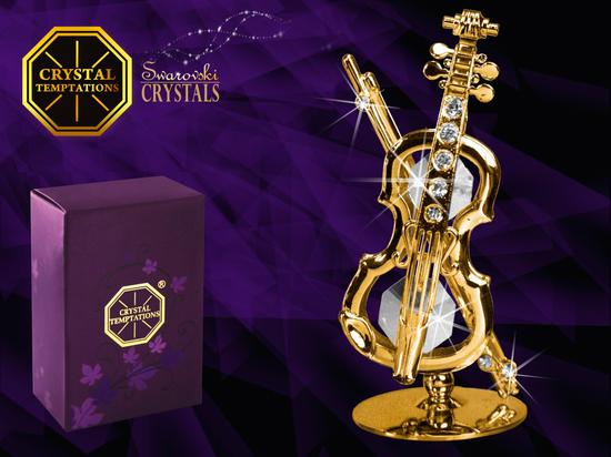 Skrzypce złote - products with Swarovski Crystals