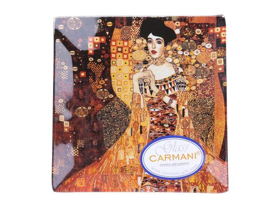 Talerz dekoracyjny - G. Klimt, Adela 13x13cm