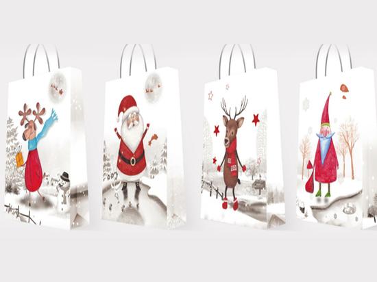 Torebka prezentowa świąteczna. duża (mix 4 wzorów)