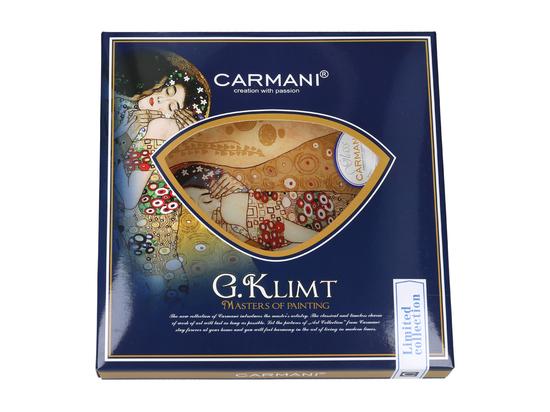 Talerz dekoracyjny - G. Klimt, Pocałunek 24.5x23cm /box