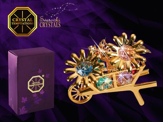 Taczka z kwiatami - products with Swarovski Crystals - KP